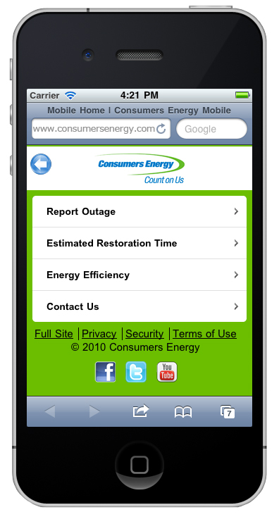 Mobile Application Puts Power Outage Information At Your