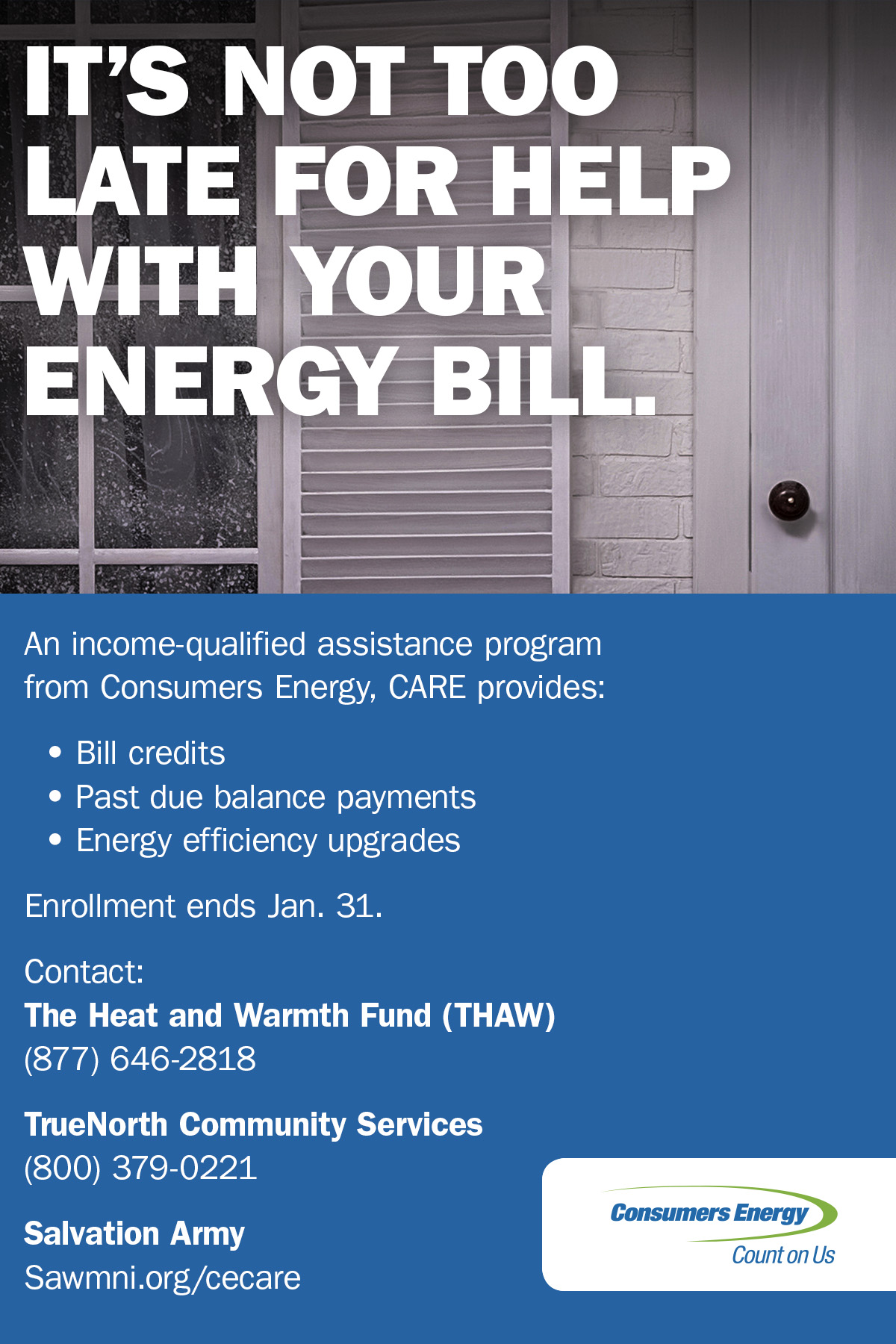 new consumers energy program helps income qualified customers manage