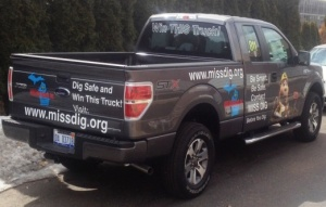 Enter to win this 2014 Ford F-150 STX 4x4 truck at www.missdig.org.