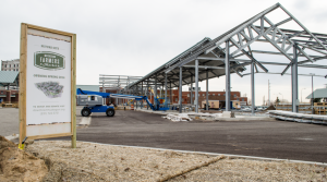 Work continues on the Muskegon Farmers Market, which is receiving a $50,000 grant from the Consumers Energy Foundation.