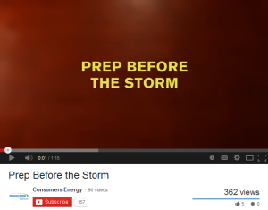 Click to watch a short video with tips to prepare before the storm.