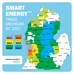 Smart Meters will roll out across Michigan by 2017.