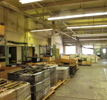 The Investment Recovery Center auctions a variety of different equipment four times per year.