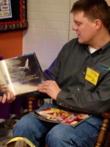 Randy Farrow reading to students of Morrice Area Schools.
