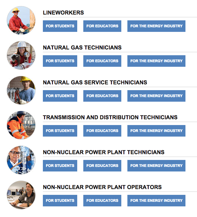 Click graphic to begin the Career Pathways Roadmaps at GetintoEnergy.com