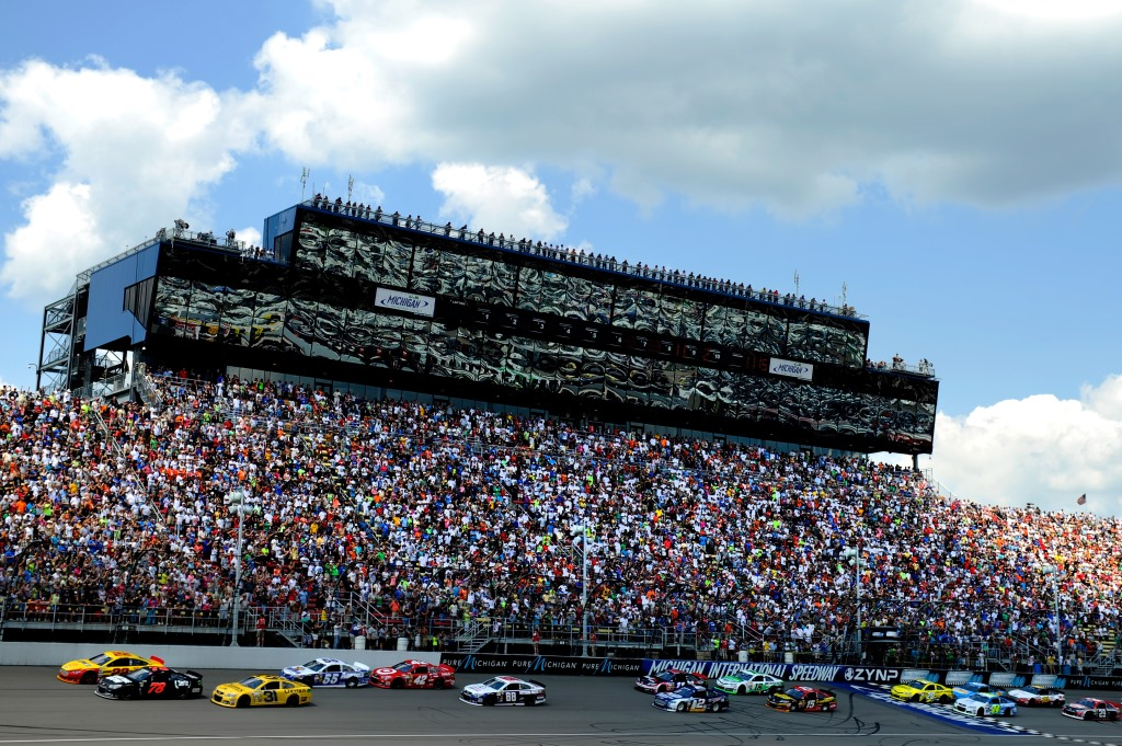 Michigan International Speedway draws in over half a million fans during race weekends in June and August.