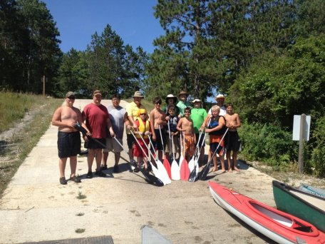 100 mile high adventure canoe trip on the Manistee River